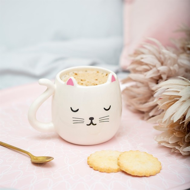 Sass & Belle: Cutie Cat - Shaped Mug (400ml)