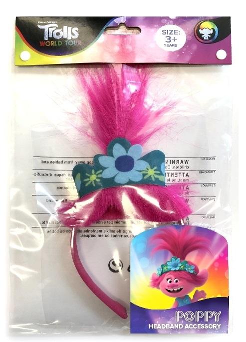 Pink Details about  /Scunci Trolls World Tour Headband Poppy
