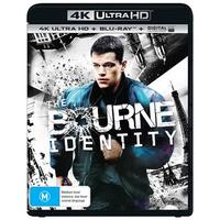 The Bourne Identity on Blu-ray, UHD Blu-ray, UV
