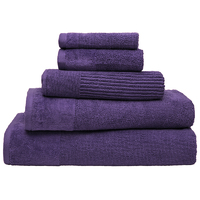 Bambury Costa Cotton Bath Towel (Grape)