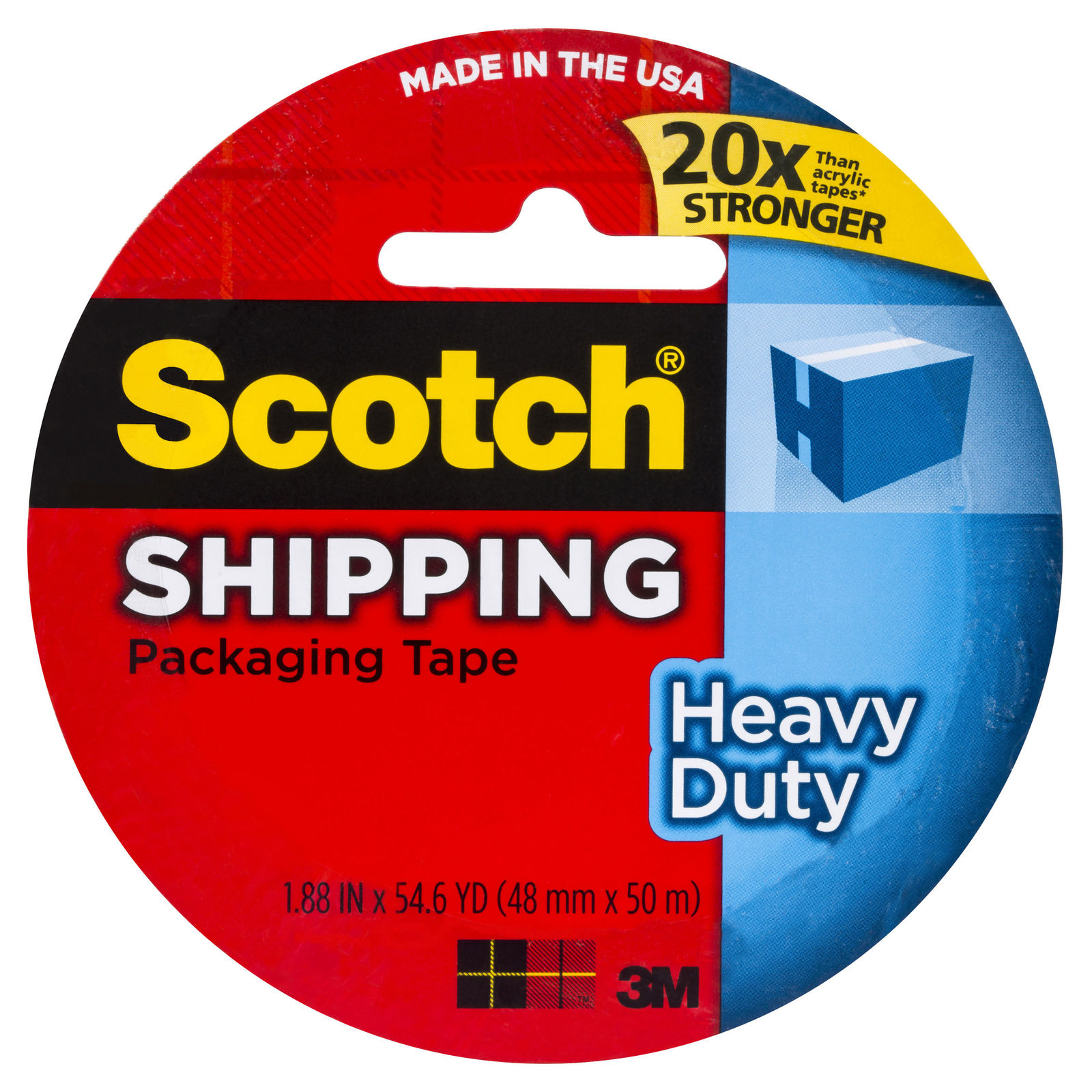 Scotch Heavy Duty Shipping Packaging Tape - Clear (48mm x 50m) image