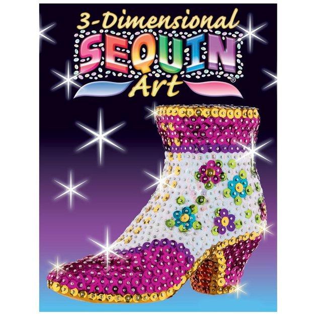 3D Sequin Art - Shoe