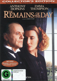 The Remains Of The Day on DVD image