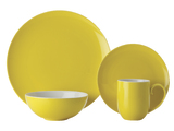 Maxwell & Williams Colour Basics Coupe Dinner Set - Yellow (16 Piece)