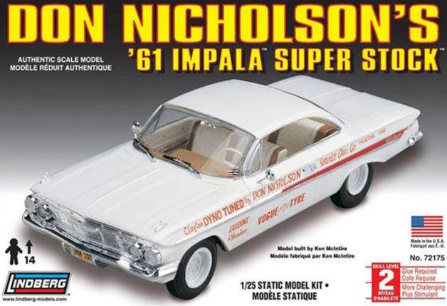 Lindberg: 1/25 1961 Chevy Impala SS (Don Nicholson) - Model Kit