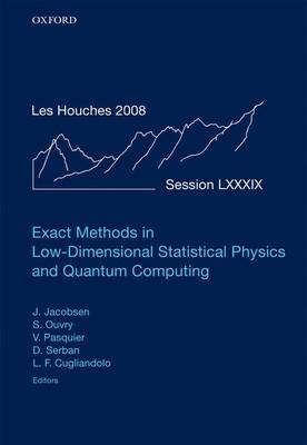 Exact Methods in Low-Dimensional Statistical Physics and Quantum Computing: Volume 89
