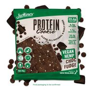 Justine's Vegan Hemp Protein Cookies - Chocolate Fudge (12 x 64g)