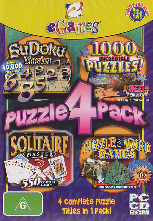 eGames Puzzle 4-Pack for PC Games