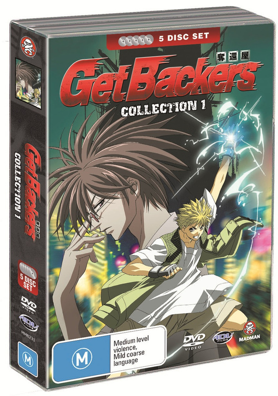Get Backers - Collection 1 (5 Disc Fatpack) on DVD