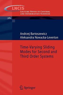 Time-Varying Sliding Modes for Second and Third Order Systems by Andrzej Bartoszewicz image