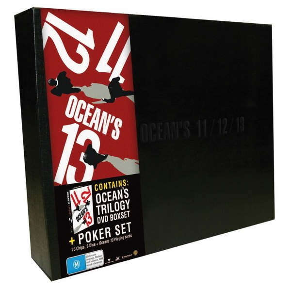 Ocean's Poker Set - 11, 12, 13 (3 Disc Box Set) on DVD