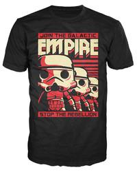 Star Wars - Stormtrooper Poster Pop! T-Shirt (L)