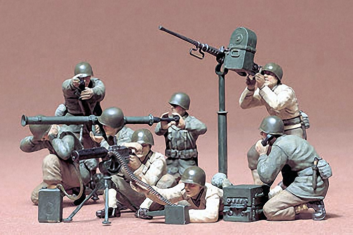 Tamiya 1/35 U.S. Gun and Mortar Team - Model Kit image