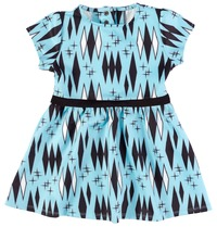 Sourpuss Retro Diamonds Dress Blue (Size 6)