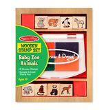 Melissa & Doug: Wooden Baby Zoo Animal Stamp Set