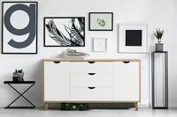 Shangri-La: 3 Drawer 2 Door Buffet - Nyhavn Collection (White & Oak)
