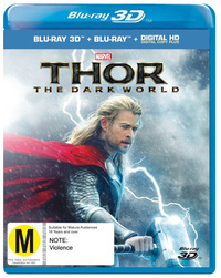 Thor: The Dark World 3D on Blu-ray, 3D Blu-ray