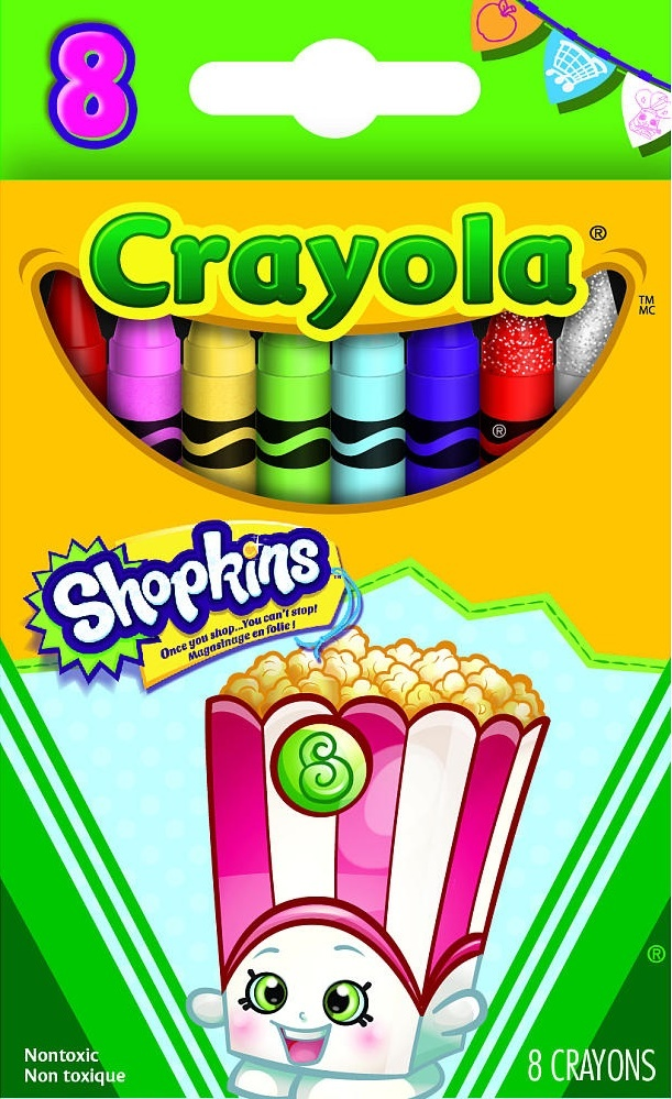 Crayola Shopkins: Poppy Corn Crayon - 8 Pack image
