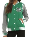 Harry Potter: Slytherin - Slim-Fit Varsity Jacket (Medium)