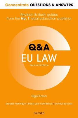 Concentrate Questions and Answers EU Law by Nigel Foster image