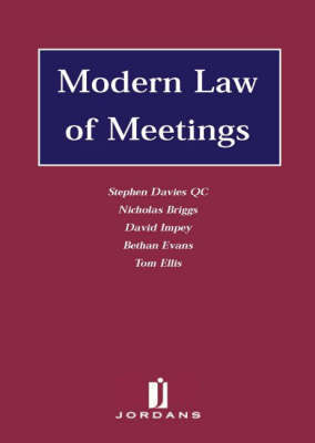 Modern Law of Meetings by Bethan Evans