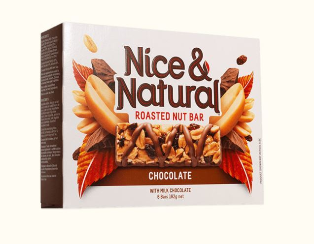 Nice & Natural Roasted Nut Bar - Chocolate (192g) image
