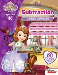 Disney Sofia the First: Subtraction Learning Workbook Level K