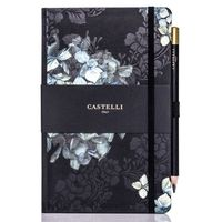Castelli: Midnight Floral Notebook - Hydrangea