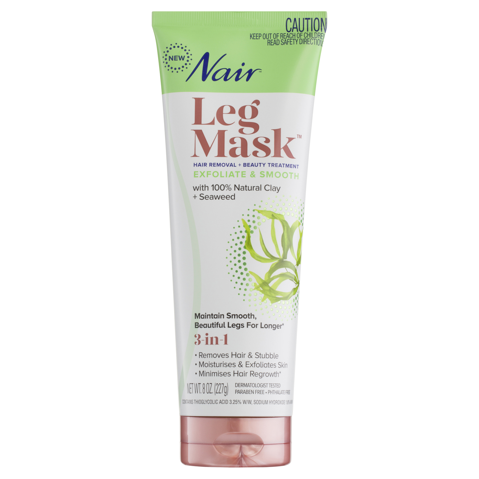 Nair Leg Mask Exfoliate + Smooth with Seaweed (227g) image