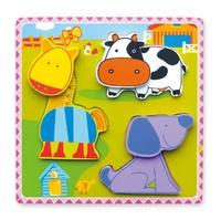 VIGA Wooden Toys: Chunky Farm Puzzle