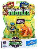 "TMNT Half Shell Hero 2.5"" Figure - Leo and Triceratops"