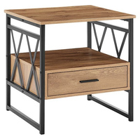 Ovela: Newtown Bedside Table - Rustic Oak