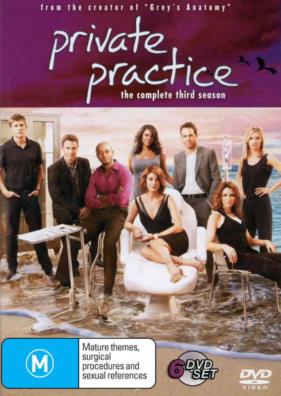 Private Practice - The Complete 3rd Season (6 Disc Set) on DVD