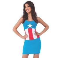 Captain America Tank Dress (Small)