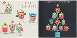 Christmas Wallet: 10 Owls Cards