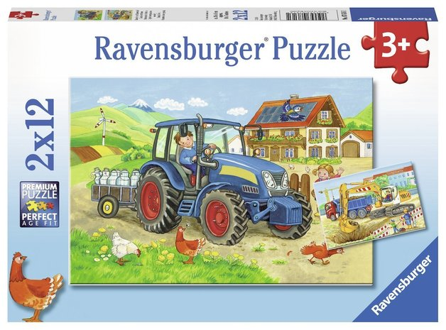 Ravensburger : Hard at Work Puzzle 2x12pc