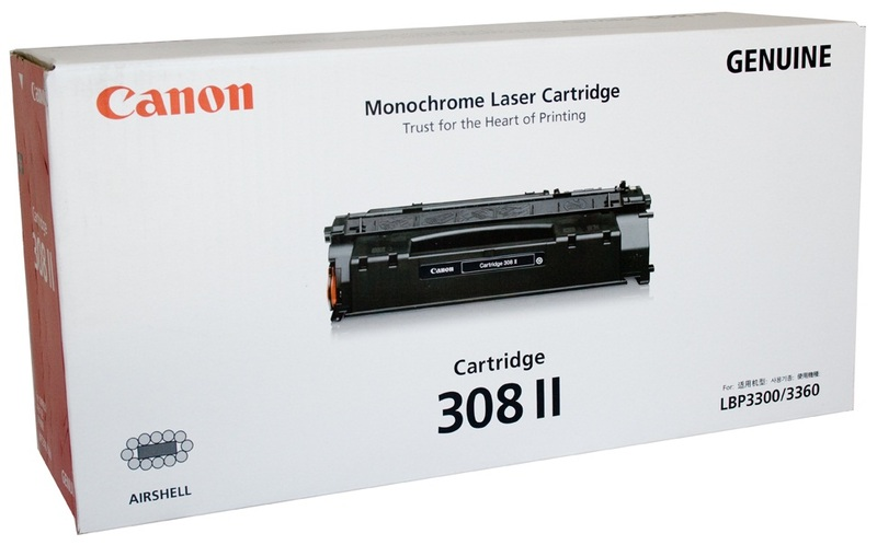 Canon CART308II Black Toner Cartridge for Canon LBP-3300 image