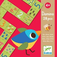 Djeco: 28pc Domino One Two Three Puzzle Game