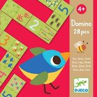 Djeco: 28pc Domino One Two Three Puzzle Game