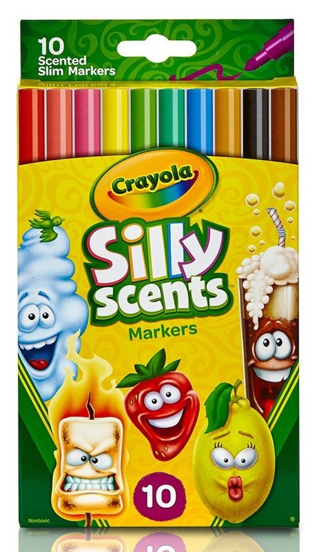 Crayola: Silly Scents - Slim Markers (10-Pack)
