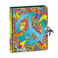 Peaceable Kingdom: Lockable Diary - Peace Sign