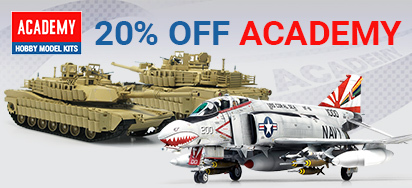 Save 20% off Academy Models!