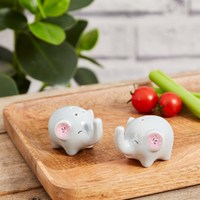 Mandala Elephant Salt and Pepper Shaker Set