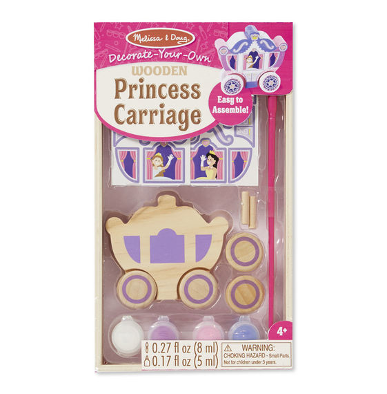 Melissa & Doug: Decorate Your Own - Wooden Princess Carriage