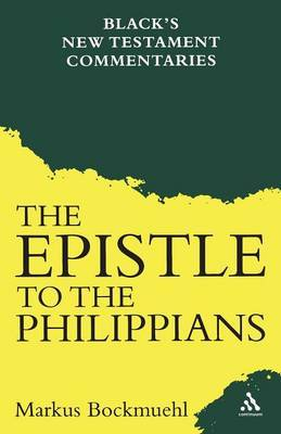 Epistle to the Philippians by Markus Bockmuehl image