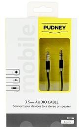 Pudney: 3.5mm Stereo Plug To 3.5mm Stereo Plug 1 Metre - Black