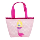 Pink Poppy Summer Mermaid Handbag - Pale Pink