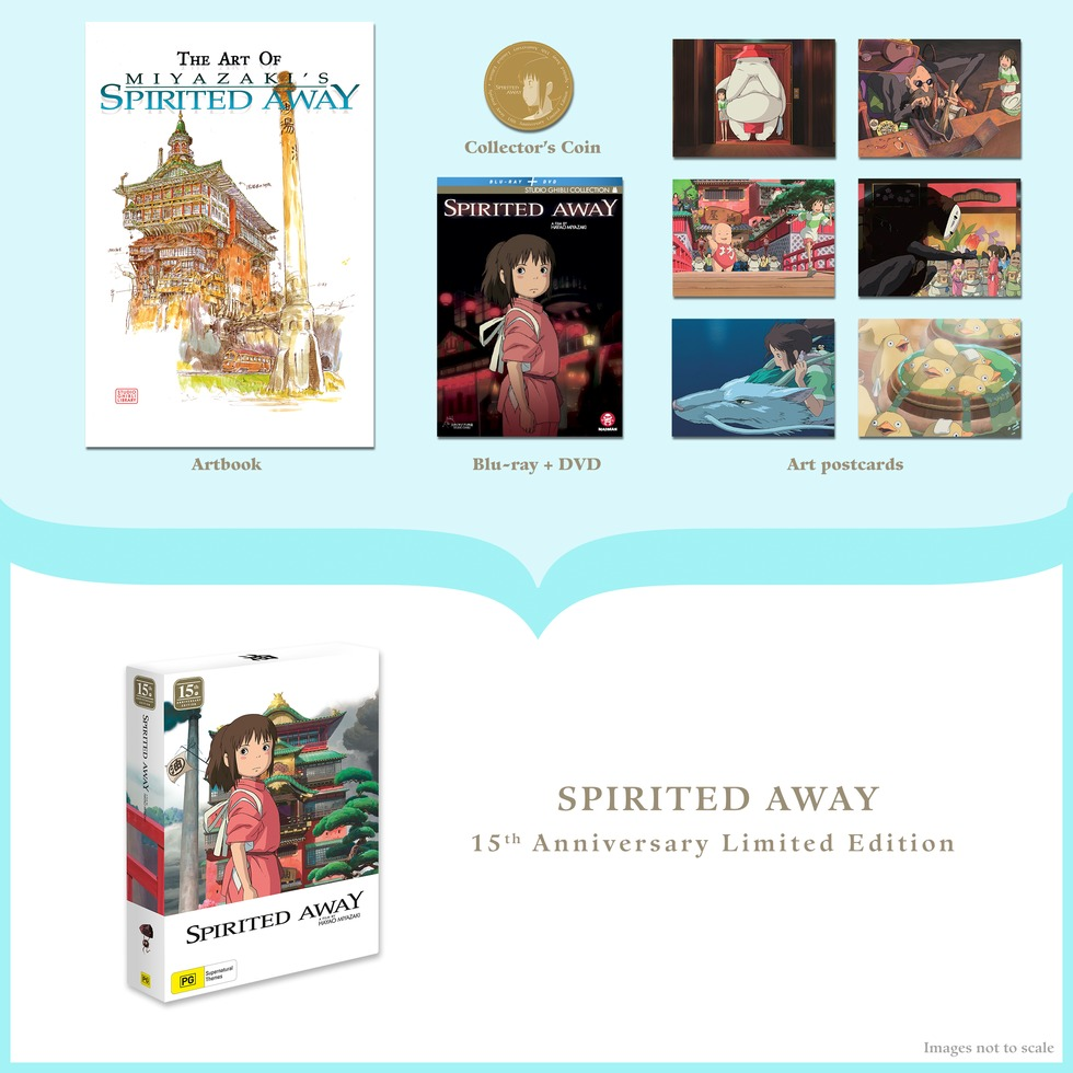 Spirited Away - 15th Anniversary (Limited Edition) on DVD, Blu-ray image