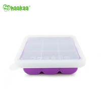 Haakaa: Silicone Baby Food Freezer Tray 9 with Lid - Purple