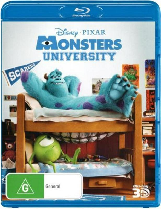 Monsters University 3D on 3D Blu-ray